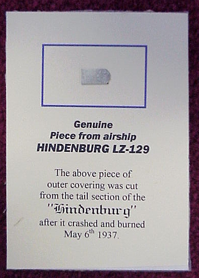PIECE AIRSHIP HINDENBURG